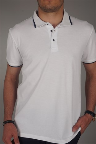 K595-RAVANELLİ POLO YAKA REGULAR FIT TİŞÖRT