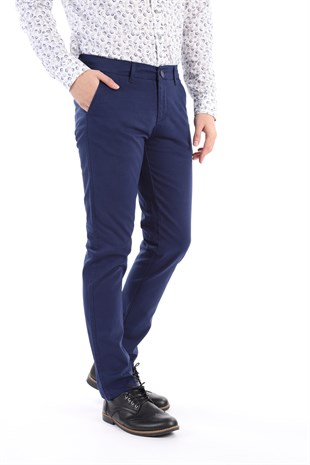 Lacivert Chıno Slim Fit Pantolon